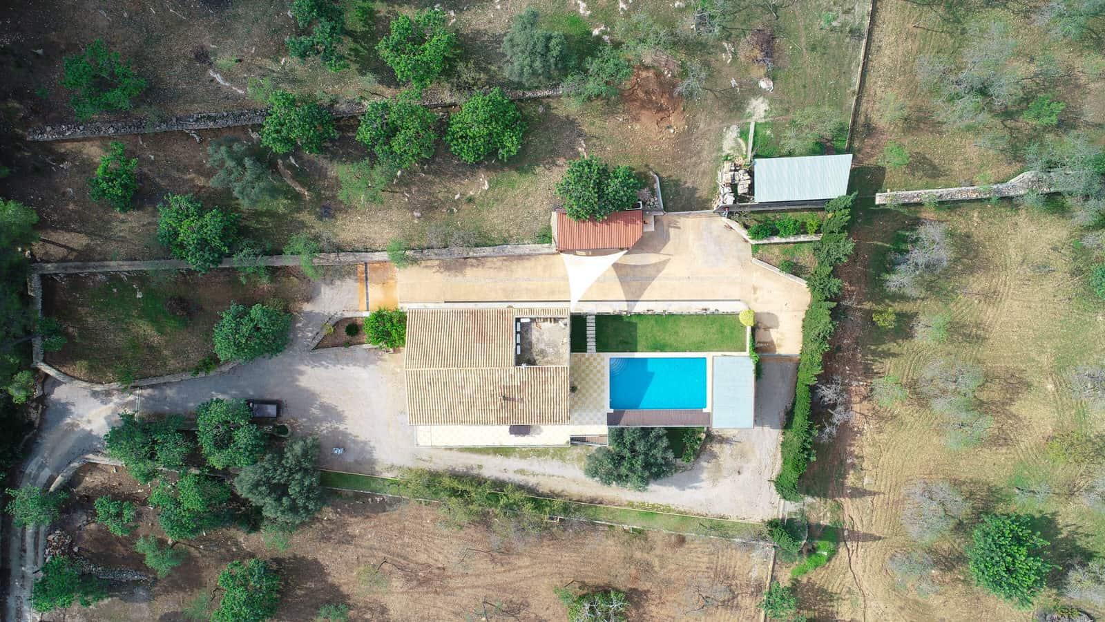 vista aerea casa campo mallorquina