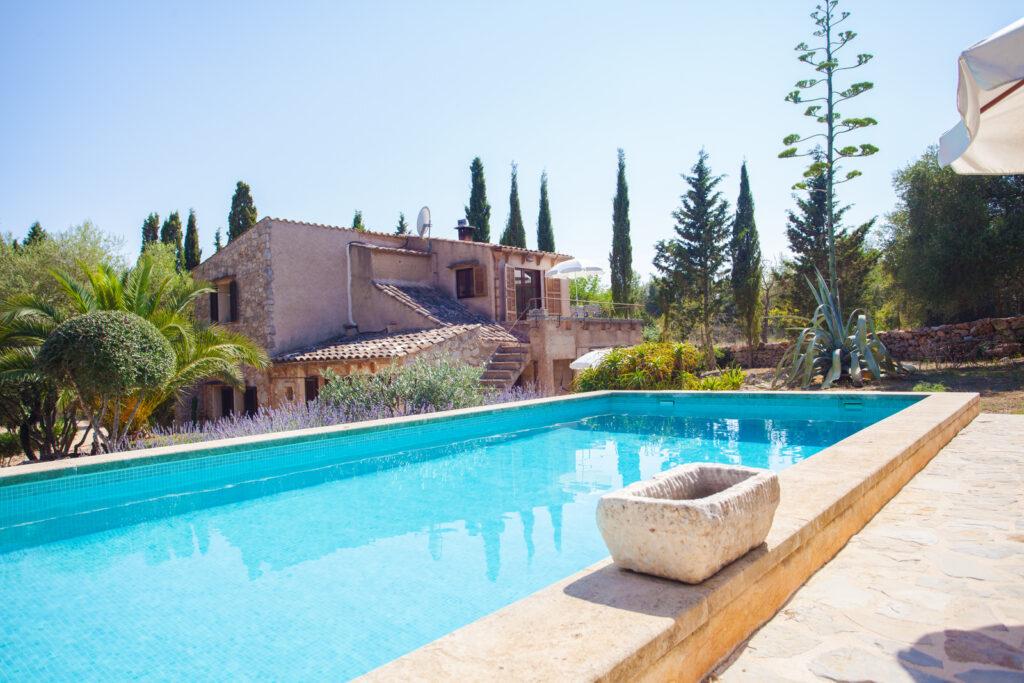 Casa de campo mallorquina con piscina